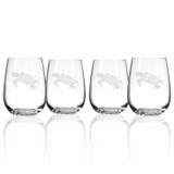 Sea Turtle Stemless Wine Tumblers - Set of 4