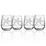 Starfish Stemless Wine Glasses - set of 4