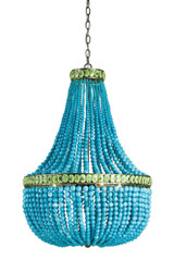 Hedy Turquoise Beaded Luxury Chandelier