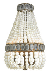 Lana Cream Beaded Wall Sconce