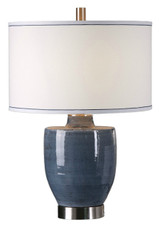 Newport Blue-Gray Glaze Lamp