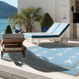 Starfish Blue Scatter Area Rug outdoor room