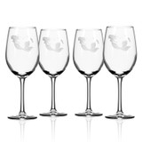 Mermaid Etched 12 oz. Wine Glasses - Set of 4