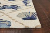 Harbor Seaside Ivory Indoor-Outdoor Rug corner image