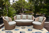 Harbor Ivory and Blue Sealife Rug outdoor room image