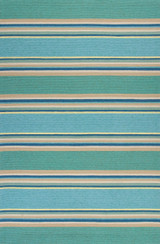 Harbor Turquoise Stripes Area Rug