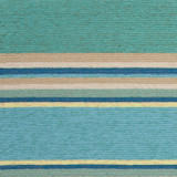 Harbor Turquoise Stripes Area Rug close up 1