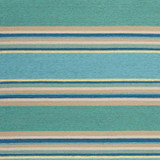 Harbor Turquoise Stripes Area Rug close up 2
