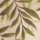 Greenery Palm Bordered Rug close up 2