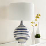 Blue Striped Tideline Lamp Room image