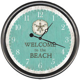 Sand Dollar Custom Welcome Beach Clock