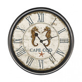 Beach Cottage Seahorse Clock - Custom