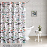 Sardinia Fishes Shower Curtain