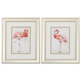 Pink Flamingo Showoff Framed Prints - Set of 2