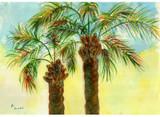 Palm Tree Image Floor Mat