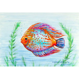 Orange Fish Floor Mat