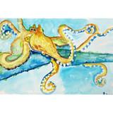 Gold Octopus Floor Mat