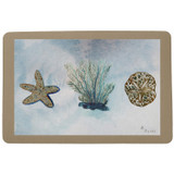 Blue Coral and Shells Floor Mat