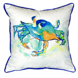 Watercolor Orange Crab Beach Cottage Large Pillow