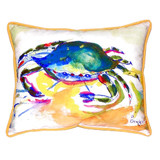 Watercolor Green Crab Beach Cottage Large Pillow
