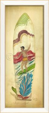 Surfin'Style Surfboard Art - White Frame