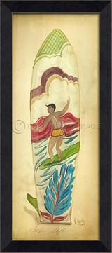 Surfin'Style Surfboard Art - Black Frame