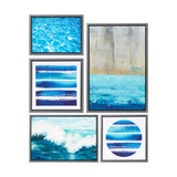 Water Tide 5-Piece Gallery Wall Art Set not on wall