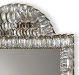 Luxury Polished Abalone Shell Mirror close up with tiny shells