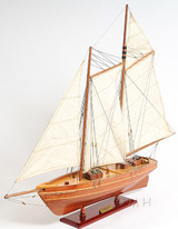 America Yacht Sailboat Model side view 2