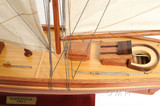 America Yacht Sailboat Model close up view