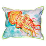 Orange Jellyfish Pillow
