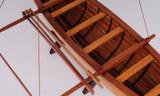 Hawaiian Canoe Detailed Model inside view