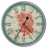 Red and Teal Sea Fan Clock - Custom