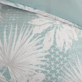 Sea Palm Grove Queen Duvet 5-Piece Set  close up
