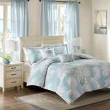 Sea Palm Grove Queen Duvet 5-Piece Set  view 2