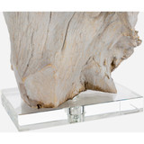 Darby Driftwood Table Lamp base close up