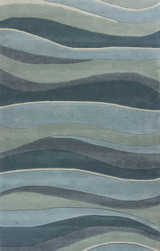 Ocean Landscapes Sculpted Wool Luxury Rug