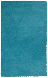 Bright Blue Beach Bliss Shag Rug