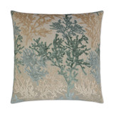 Barbados Velvet Coral Branch Pillow - Laguna