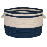 Bar Harbour Round Basket - Navy Blue
