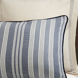 Coastal Farmhouse Comforter King Size  close up
