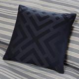 Coastal Farmhouse navy deco pillow
