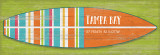 Bright Striped Surfboard Latitude Custom Sign