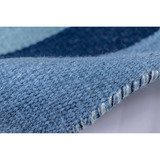 Tribeca Water Blue Striped Woven Indoor-Outdoor Rug roll view