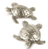 Pewter Sea Turtles Salt & Pepper Set