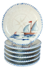 Sailboat Canape Plates- Set of 6