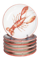 Lobster Canape Plates- Set of 6