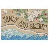 Sandy and Bright Seashell Holiday Rug