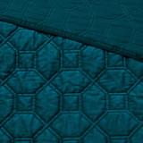 Harper Teal Velvet Queen Size Coverlet Set details 2