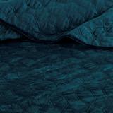 Harper Teal Velvet Coverlet Set-King
